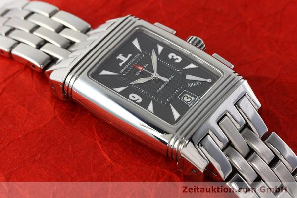 Used luxury watch Jaeger Le Coultre Reverso chronograph steel manual winding Kal. 659 Ref. 295.8.59  | 143057 13