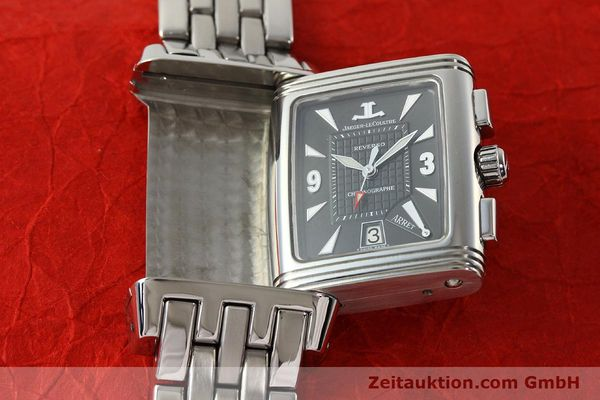 Used luxury watch Jaeger Le Coultre Reverso chronograph steel manual winding Kal. 659 Ref. 295.8.59  | 143057 14