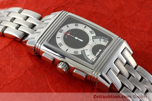 Used luxury watch Jaeger Le Coultre Reverso chronograph steel manual winding Kal. 659 Ref. 295.8.59  | 143057 15