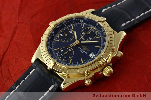 Used luxury watch Breitling Chronomat chronograph 18 ct gold automatic Kal. B13 ETA 7750 Ref. K13048  | 143060 01
