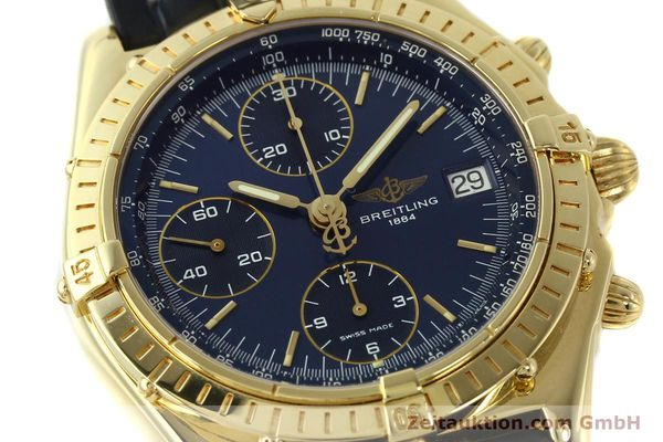 Used luxury watch Breitling Chronomat chronograph 18 ct gold automatic Kal. B13 ETA 7750 Ref. K13048  | 143060 02