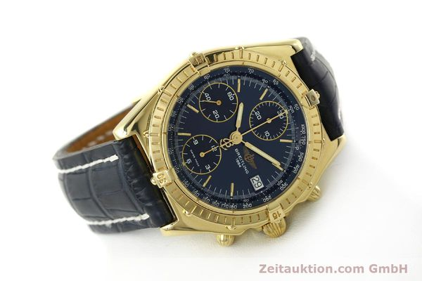 Used luxury watch Breitling Chronomat chronograph 18 ct gold automatic Kal. B13 ETA 7750 Ref. K13048  | 143060 03