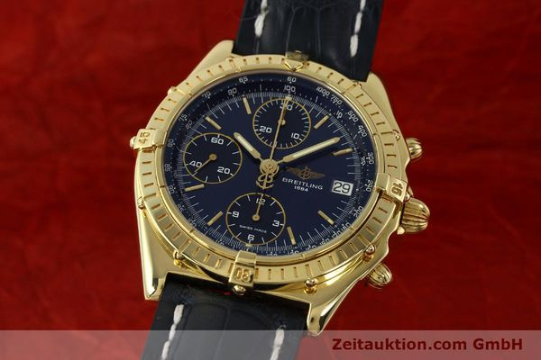 Used luxury watch Breitling Chronomat chronograph 18 ct gold automatic Kal. B13 ETA 7750 Ref. K13048  | 143060 04