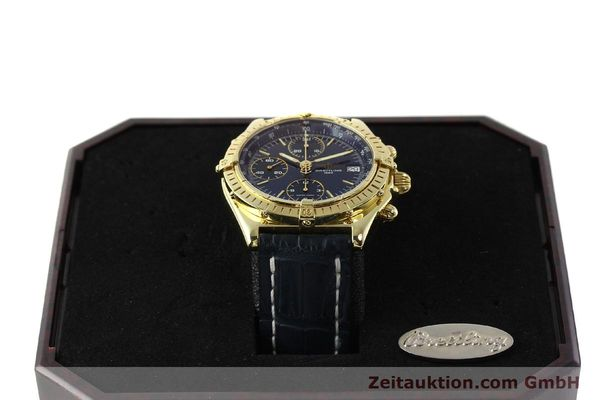 Used luxury watch Breitling Chronomat chronograph 18 ct gold automatic Kal. B13 ETA 7750 Ref. K13048  | 143060 07
