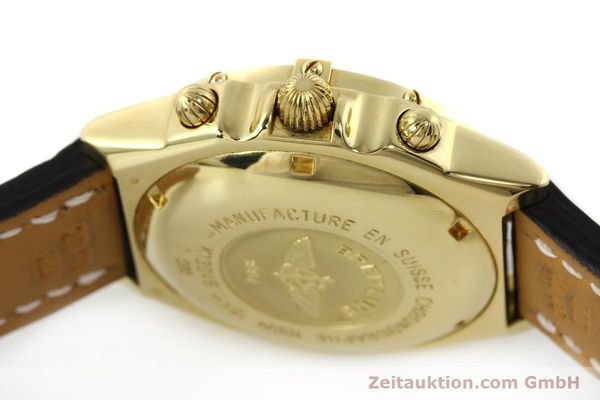 Used luxury watch Breitling Chronomat chronograph 18 ct gold automatic Kal. B13 ETA 7750 Ref. K13048  | 143060 12