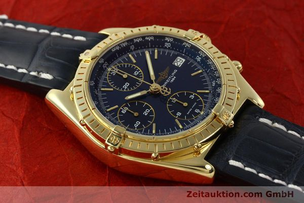 Used luxury watch Breitling Chronomat chronograph 18 ct gold automatic Kal. B13 ETA 7750 Ref. K13048  | 143060 17
