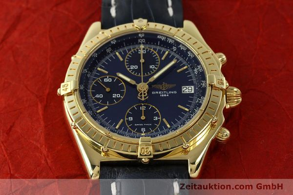 Used luxury watch Breitling Chronomat chronograph 18 ct gold automatic Kal. B13 ETA 7750 Ref. K13048  | 143060 18
