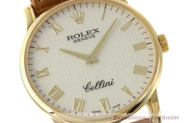 Used luxury watch Rolex Cellini 18 ct gold manual winding Kal. 1602 Ref. 5116  | 143065 02