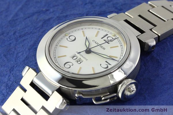 Used luxury watch Cartier Pasha steel automatic Kal. 052 ETA 2892A2  | 143068 01