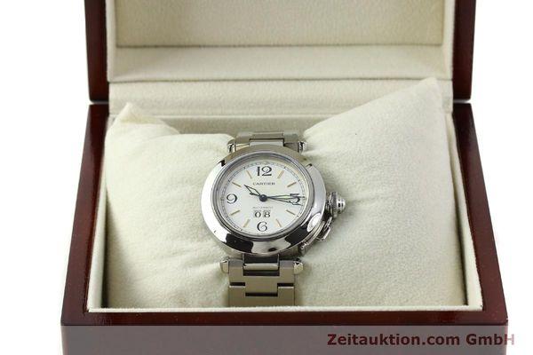 Used luxury watch Cartier Pasha steel automatic Kal. 052 ETA 2892A2  | 143068 07