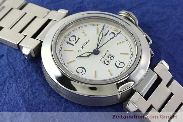 Used luxury watch Cartier Pasha steel automatic Kal. 052 ETA 2892A2  | 143068 14