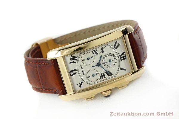 Used luxury watch Cartier Tank chronograph 18 ct gold quartz Kal. 212P  | 143071 03