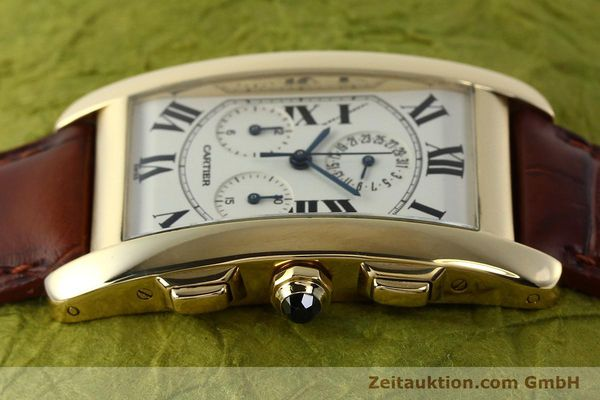 Used luxury watch Cartier Tank chronograph 18 ct gold quartz Kal. 212P  | 143071 05