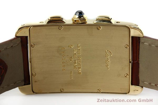 Used luxury watch Cartier Tank chronograph 18 ct gold quartz Kal. 212P  | 143071 08
