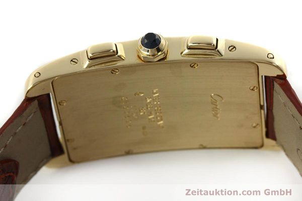 Used luxury watch Cartier Tank chronograph 18 ct gold quartz Kal. 212P  | 143071 11