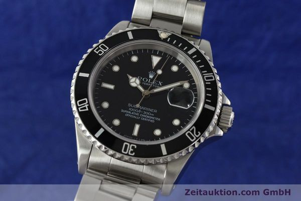 Used luxury watch Rolex Submariner steel automatic Kal. 3135 Ref. 16610  | 143072 04