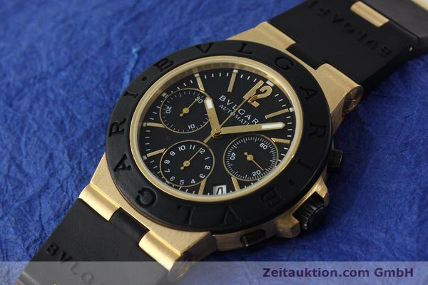 Used luxury watch Bvlgari Diagono chronograph 18 ct gold automatic Kal. TEEE Ref. AC38G  | 143076 01