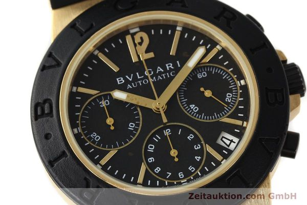 Used luxury watch Bvlgari Diagono chronograph 18 ct gold automatic Kal. TEEE Ref. AC38G  | 143076 02