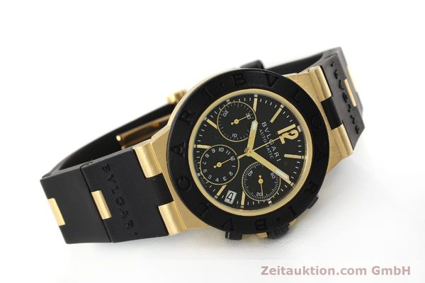 Used luxury watch Bvlgari Diagono chronograph 18 ct gold automatic Kal. TEEE Ref. AC38G  | 143076 03