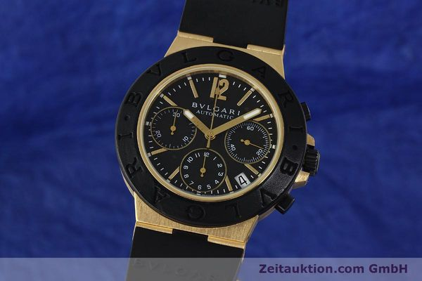 Used luxury watch Bvlgari Diagono chronograph 18 ct gold automatic Kal. TEEE Ref. AC38G  | 143076 04