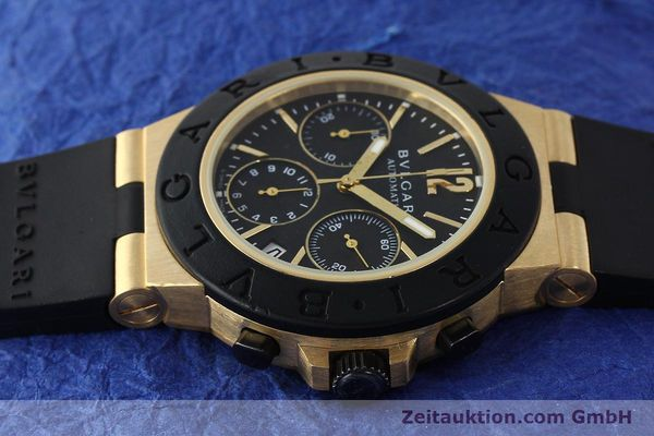 Used luxury watch Bvlgari Diagono chronograph 18 ct gold automatic Kal. TEEE Ref. AC38G  | 143076 05