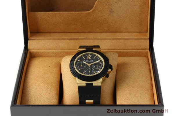 Used luxury watch Bvlgari Diagono chronograph 18 ct gold automatic Kal. TEEE Ref. AC38G  | 143076 07