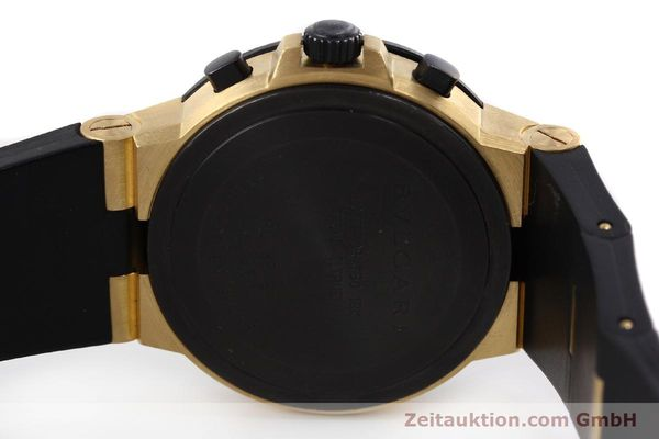 Used luxury watch Bvlgari Diagono chronograph 18 ct gold automatic Kal. TEEE Ref. AC38G  | 143076 09