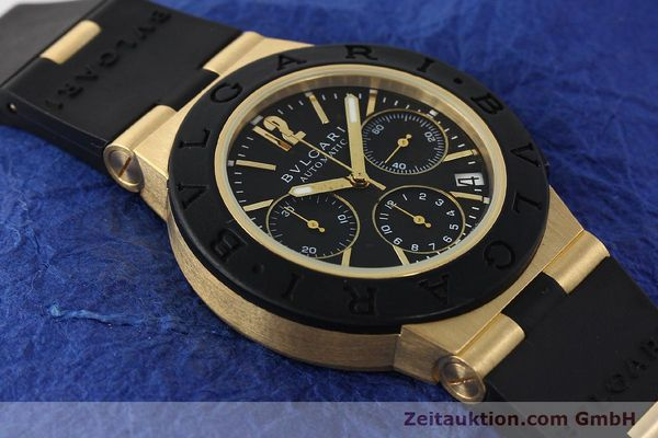 Used luxury watch Bvlgari Diagono chronograph 18 ct gold automatic Kal. TEEE Ref. AC38G  | 143076 15