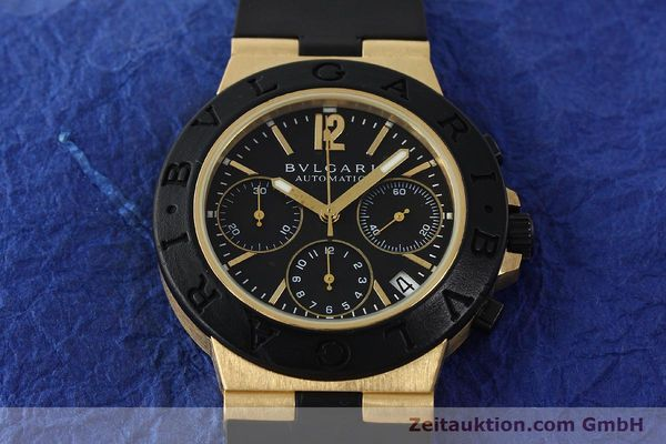 Used luxury watch Bvlgari Diagono chronograph 18 ct gold automatic Kal. TEEE Ref. AC38G  | 143076 16