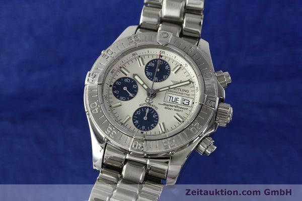 Used luxury watch Breitling Superocean Chronograph chronograph steel automatic Kal. B13 ETA 7750 Ref. A13340  | 143077 04