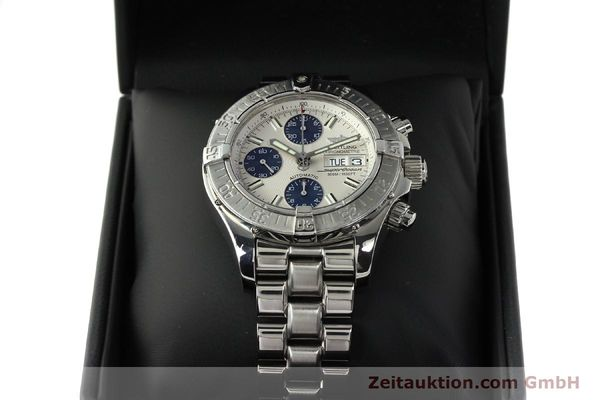 Used luxury watch Breitling Superocean Chronograph chronograph steel automatic Kal. B13 ETA 7750 Ref. A13340  | 143077 07