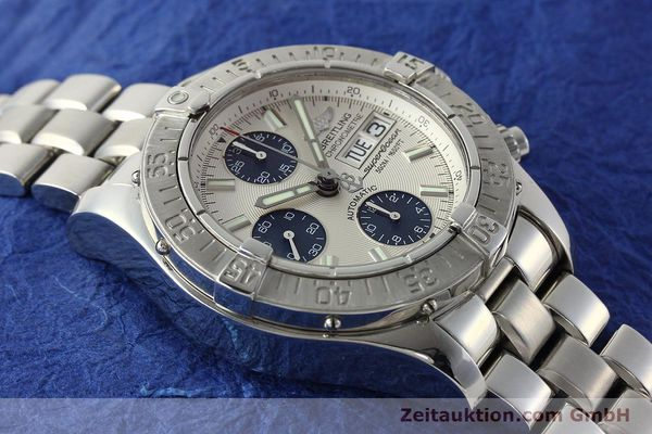 Used luxury watch Breitling Superocean Chronograph chronograph steel automatic Kal. B13 ETA 7750 Ref. A13340  | 143077 15