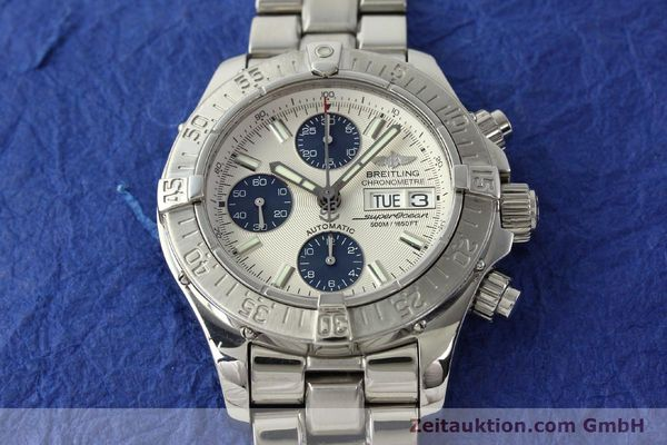Used luxury watch Breitling Superocean Chronograph chronograph steel automatic Kal. B13 ETA 7750 Ref. A13340  | 143077 16
