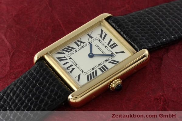 Used luxury watch Cartier Tank 18 ct gold quartz Kal. 157  | 143079 01