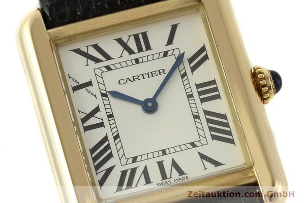 Used luxury watch Cartier Tank 18 ct gold quartz Kal. 157  | 143079 02