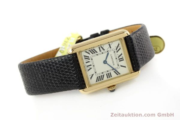 Used luxury watch Cartier Tank 18 ct gold quartz Kal. 157  | 143079 03