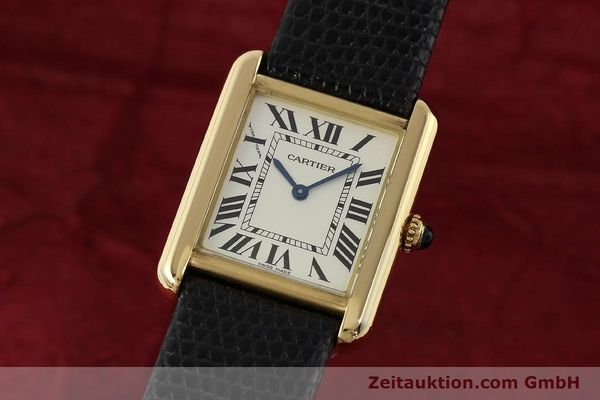 Used luxury watch Cartier Tank 18 ct gold quartz Kal. 157  | 143079 04