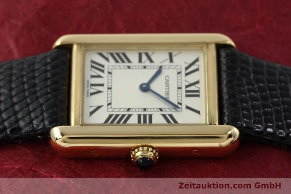 Used luxury watch Cartier Tank 18 ct gold quartz Kal. 157  | 143079 05