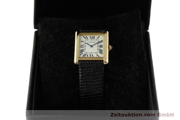 Used luxury watch Cartier Tank 18 ct gold quartz Kal. 157  | 143079 07