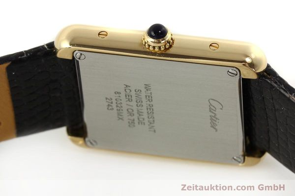 Used luxury watch Cartier Tank 18 ct gold quartz Kal. 157  | 143079 08
