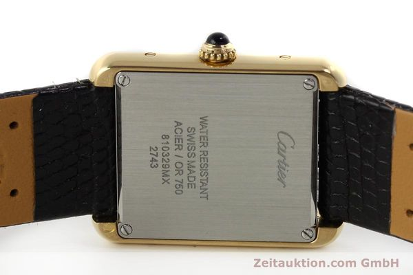 Used luxury watch Cartier Tank 18 ct gold quartz Kal. 157  | 143079 09