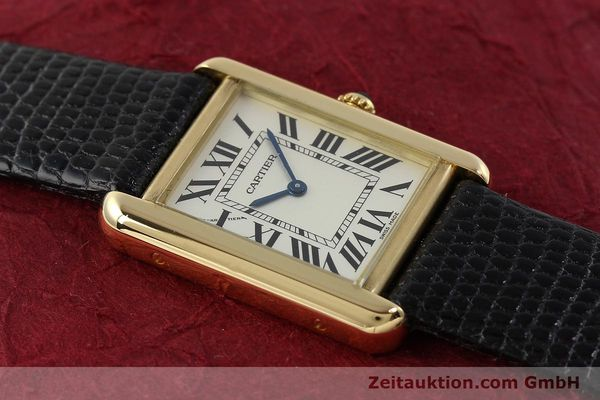 Used luxury watch Cartier Tank 18 ct gold quartz Kal. 157  | 143079 13