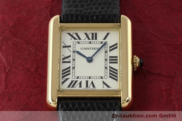Used luxury watch Cartier Tank 18 ct gold quartz Kal. 157  | 143079 14