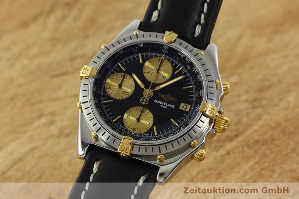 Used luxury watch Breitling Chronomat chronograph steel / gold automatic Kal. B13 VAL 7750 Ref. 81950B13047  | 143086 04
