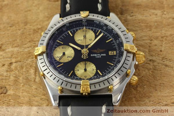 Used luxury watch Breitling Chronomat chronograph steel / gold automatic Kal. B13 VAL 7750 Ref. 81950B13047  | 143086 14