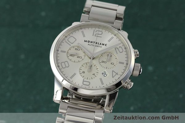 Used luxury watch Montblanc Timewalker chronograph steel automatic Kal. 4810502 Ref. 7141  | 143089 04