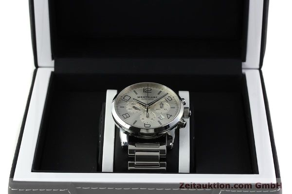 Used luxury watch Montblanc Timewalker chronograph steel automatic Kal. 4810502 Ref. 7141  | 143089 07