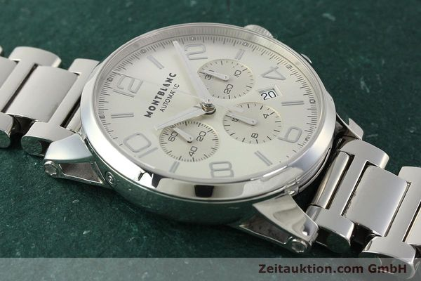 Used luxury watch Montblanc Timewalker chronograph steel automatic Kal. 4810502 Ref. 7141  | 143089 13