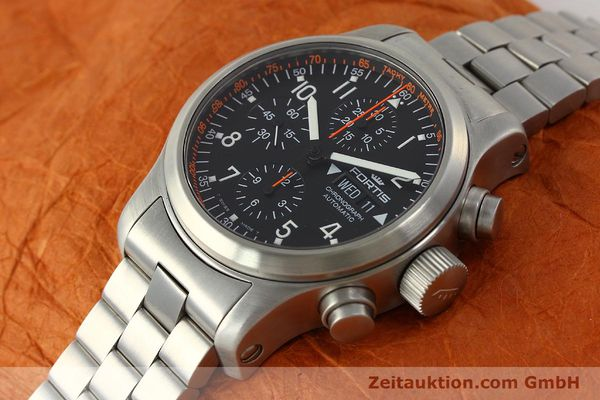 Used luxury watch Fortis B42 chronograph steel automatic Kal. ETA 7750  | 143092 01