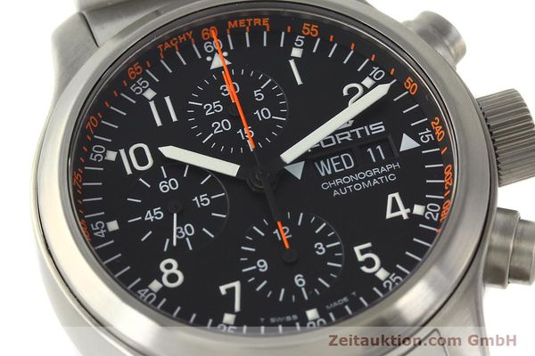 Used luxury watch Fortis B42 chronograph steel automatic Kal. ETA 7750  | 143092 02